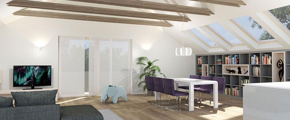 mansardno stanovanje - notranja oprema